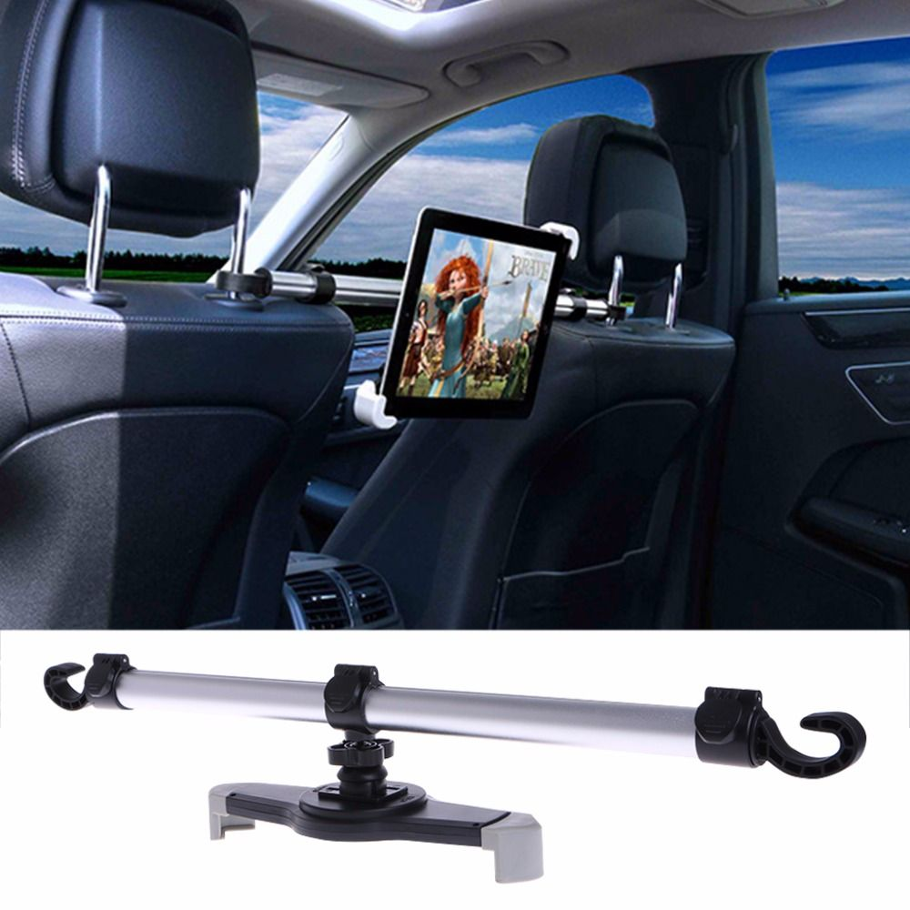 360 <font><b>Degree</b></font> Rotation Universal Aluminum Alloy Car Back Seat Mount Stand Holder For Tablet 7-11