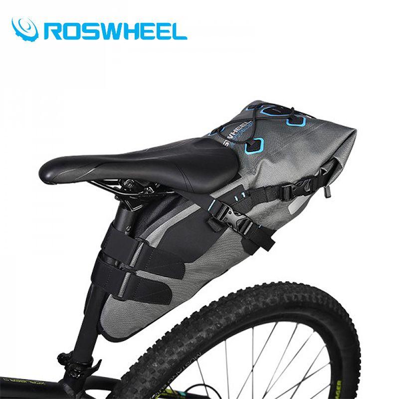 Roswheel Bike Saddle Bag Suitcase In The Rear Tail Bike Waterproof Bike Large Capacity Bags Waterproof Bag Accessories 7L Bags