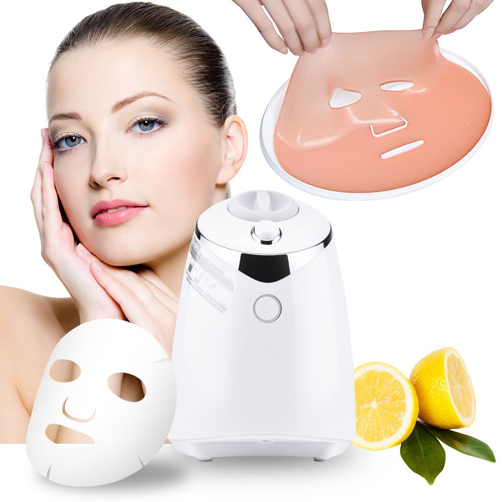 Face Mask Maker Machine Facial Treatment DIY Automatic Fruit Natural Vegetable Collagen Home Use Beauty Salon SPA <font><b>Care</b></font> Eng Voice