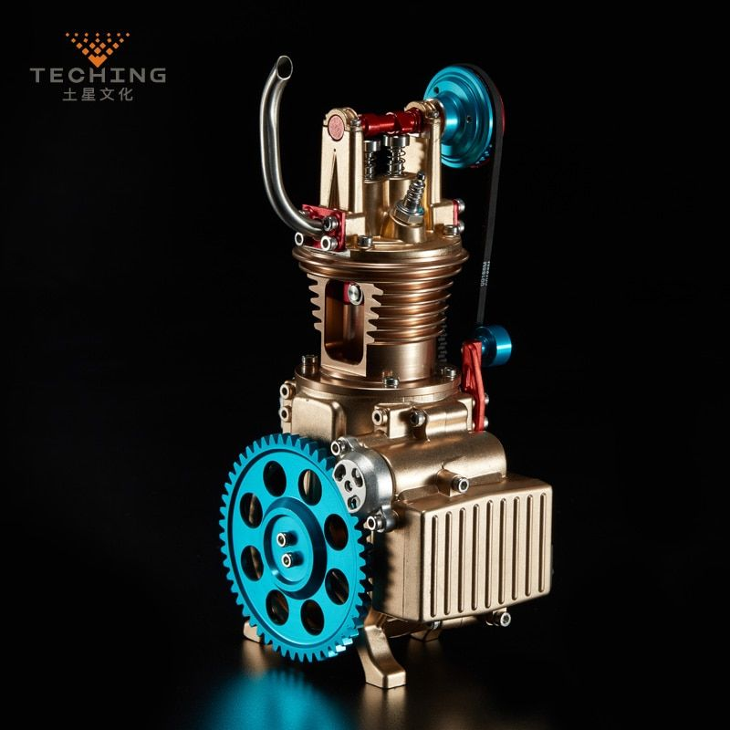 Full Metal Assembled Single cylinder Gasoline Engine Model Building Kits for Researching Industry Learning Studying / Toy / Gift