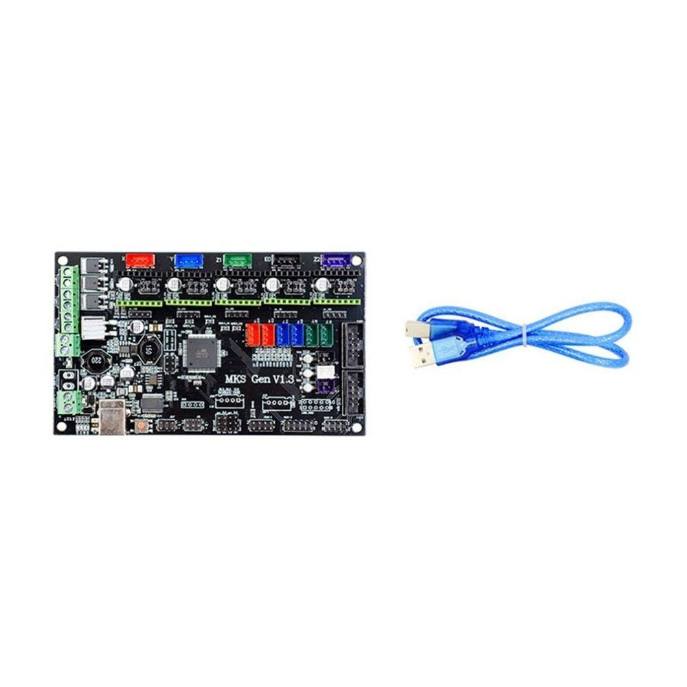 3D Printer Parts MKS Gen V1.3 Motherboard 3D Printer Control Board With USB Mega 2560 Ramps 1.4 Motherboard with Power Cable