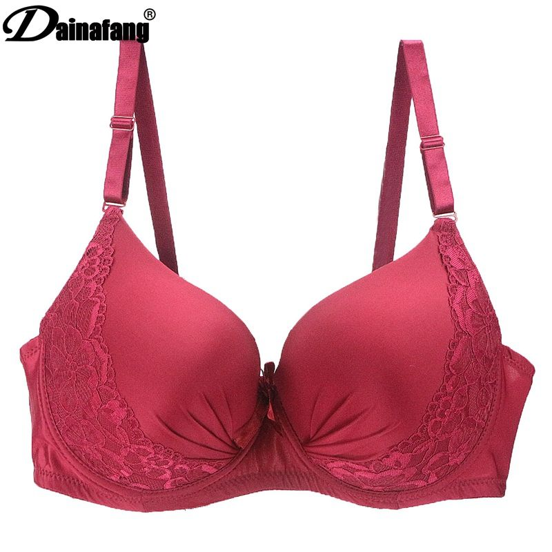Hot full cup thin lingerie plus size lingerie, wireless adjustable lace women's bra breast lining DE large cup