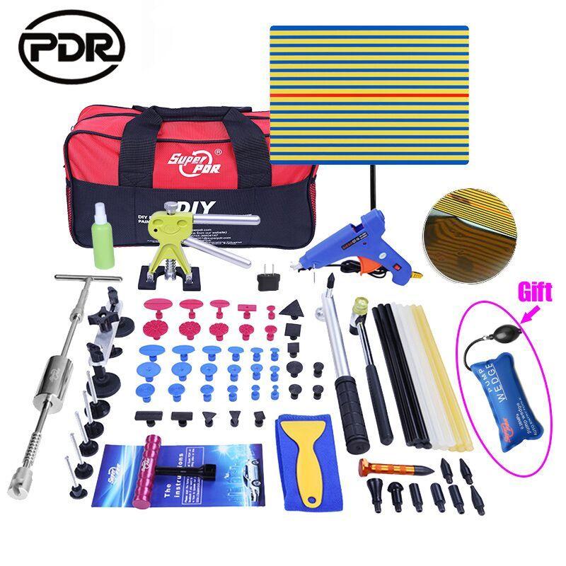 PDR Outils Kit DIY Supprimer Dent Paintless Dent Outil De Réparation De Voiture Dent Remover Inverse Marteau Redressement Tirant Bosses Instruments