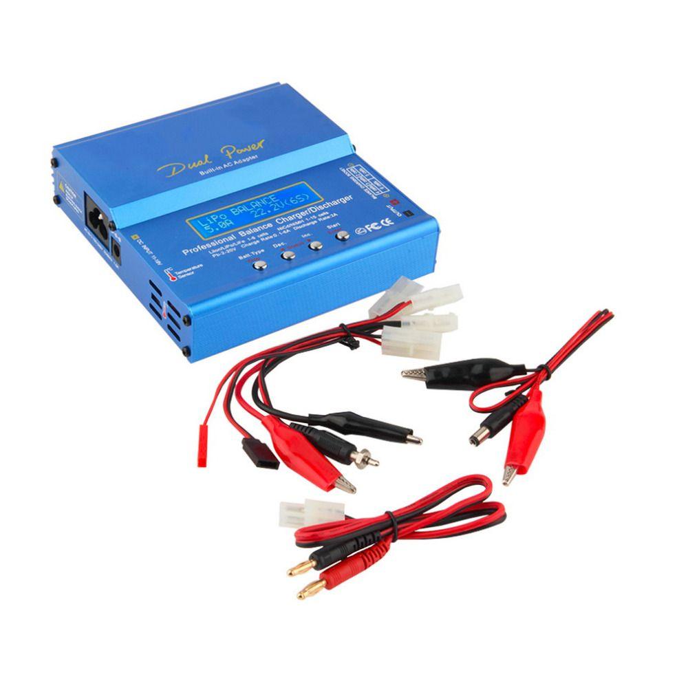 Hot! iMAX B6 AC B6AC Lipo NiMH 3S/4S/5S RC Battery <font><b>Balance</b></font> Charger + EU/US/UK/AU plug power supply wire New Sale