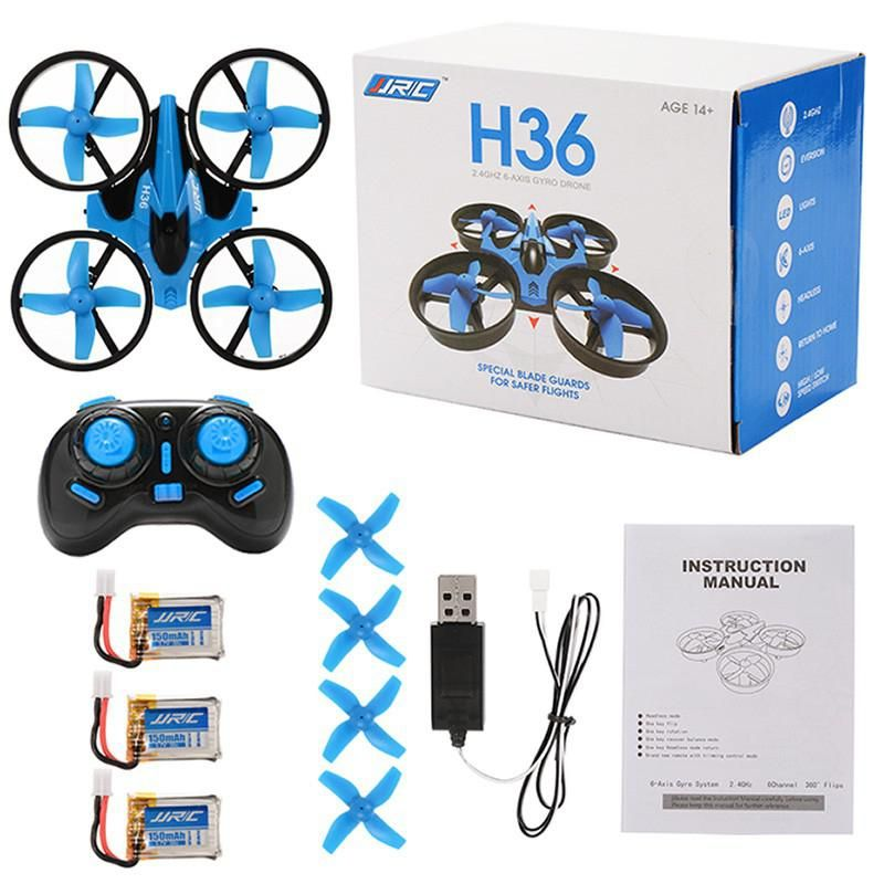 LeadingStar 2.4GHz 4 Channel 6-Axis Gyro Quadcopter Remote Control Headless Mode Drone with 3 Battery Blue