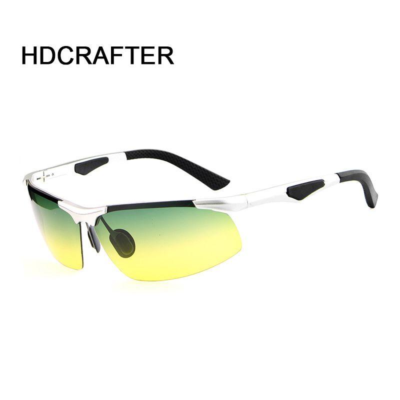 Mens Polarized Night Vision Sunglasses Men Anti-glare Metal Frame Goggles Car Night Driving Noche de conduccion de los vidrios