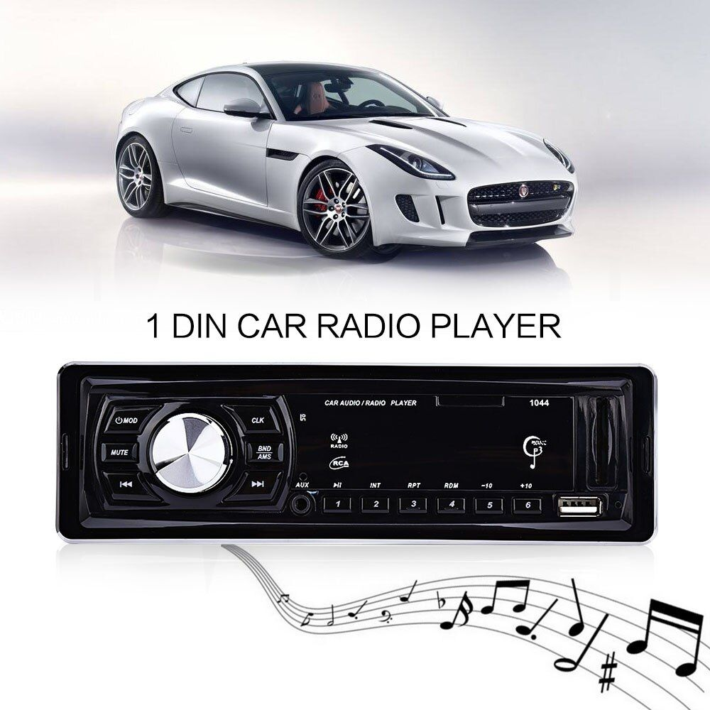 1 Din Car Radio Player Car MP3 Player Audio Stereo Audio Auto Radio FM Raido Remote Control 4 x 50W Support SD USB AUX Autoradio