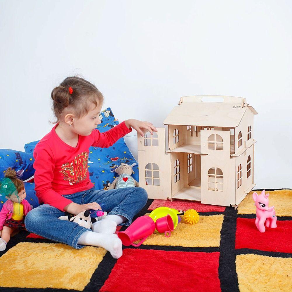 Puppe Haus Möbel Diy Miniatur 3D Holz Miniaturas Puppenhaus Spielzeug für Kinder Geburtstag Geschenke Casa Kätzchen Tagebuch DFM-2d