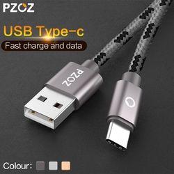 Pzoz USB tipo C cable de carga rápido del USB C tipo-c 3.1 cable de datos cargador de teléfono para Samsung S8 nota 8 xiaomi MI5 MI6 Huawei adaptador