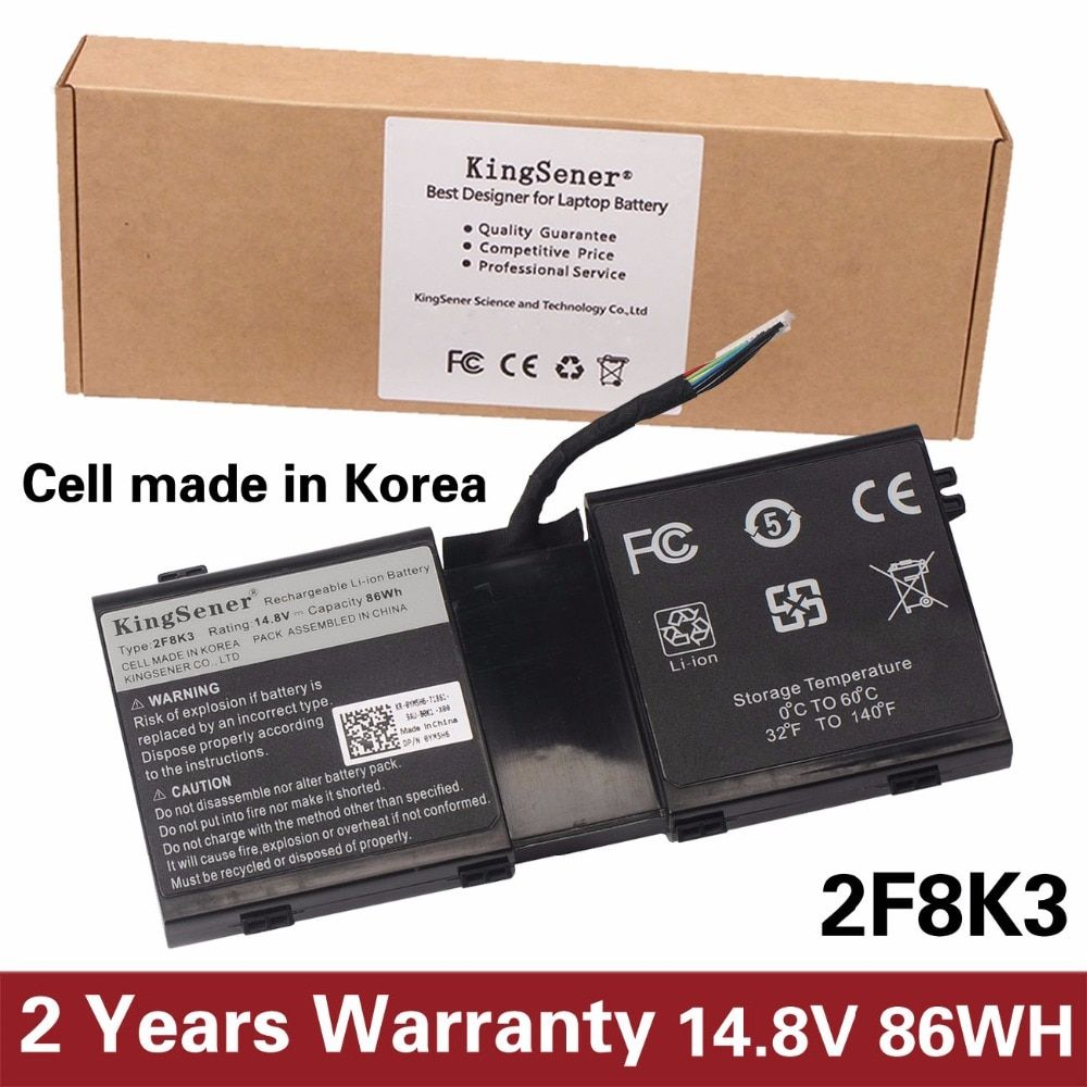 KingSener Korea Cell New 2F8K3 Laptop Battery for DELL Alienware 17 18(ALW18D-1788) M18X M17X R5 2F8K3 0KJ2PX G33TT 14.8V 86WH