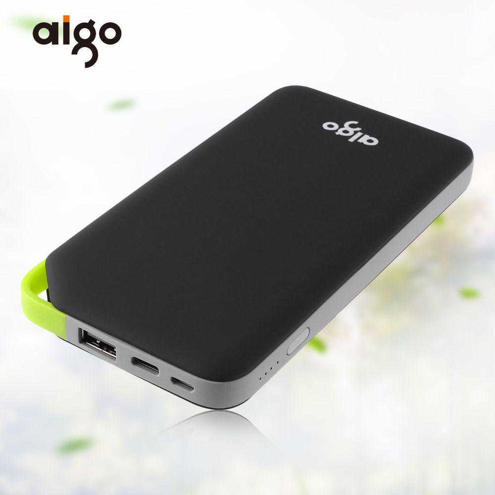Aigo Energienbank 10000 Mah Tragbares Ladegerät Dual Input Ports für xiaomi mi Powerbank Bateria Externa für iPhone Samsung Xiaomi pad