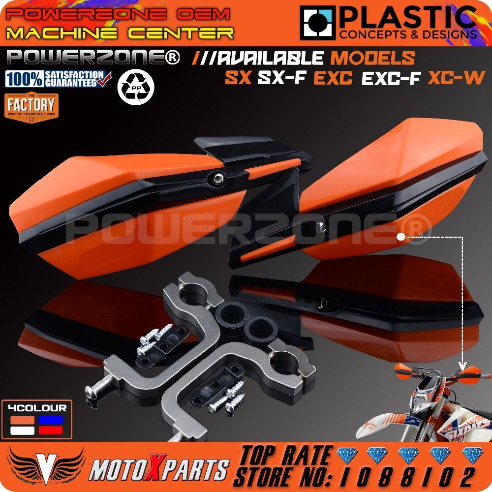 Powerzone Handguard Motorcycle Motorcross Supermoto Handlebar handguards For KTM XC W SMR LC SXF EXC CRF YZF KXF WRF ATV QUAD