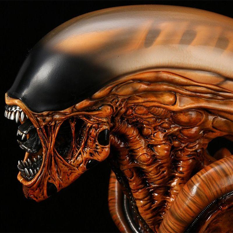 Neue Ankunft 1/3 Skala Alien 3 Alien Transparent Resin Büste Statue Sammeln Action Figur