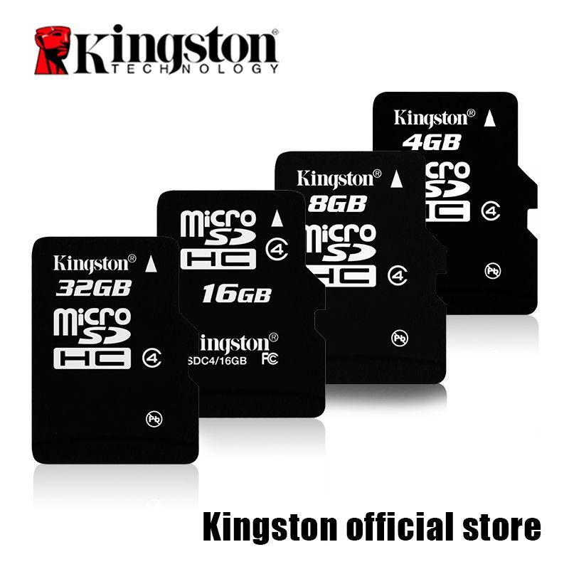Kingston microSD carte Numérique 16 GB 32 GB Classe 4 microSDHC Flash Carte (SDC4/16 GBET SDC4/32 AU GUYANA