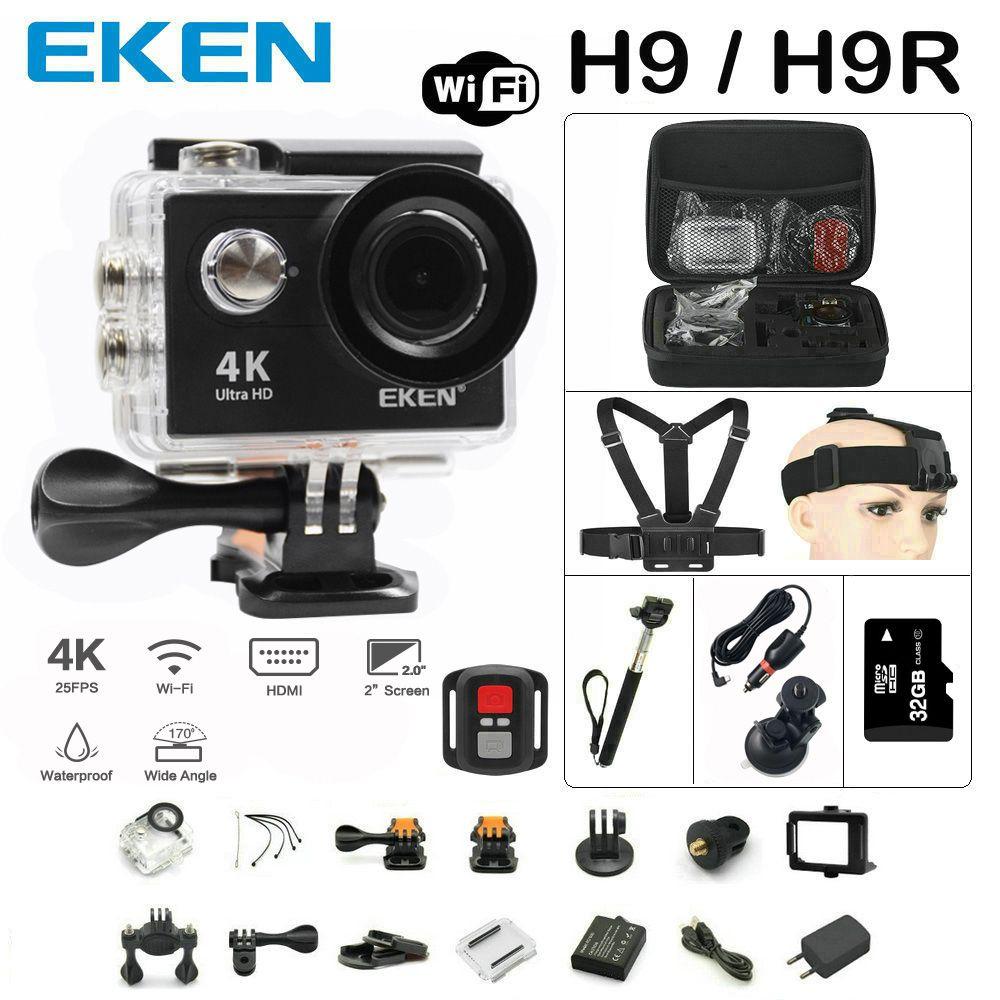 Original EKEN H9 / H9R Action camera remote Ultra FHD 4K WiFi 1080P 60fps 2.0 LCD 170D go waterproof pro camera deportiva