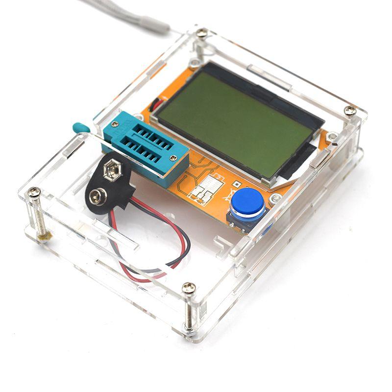 Digital Multimeter Transistor Tester LCR-T4 Mega328 M328 Backlight Diode Triode Capacitor ESR Meter MOS PNP/NPN L/C/R With Case