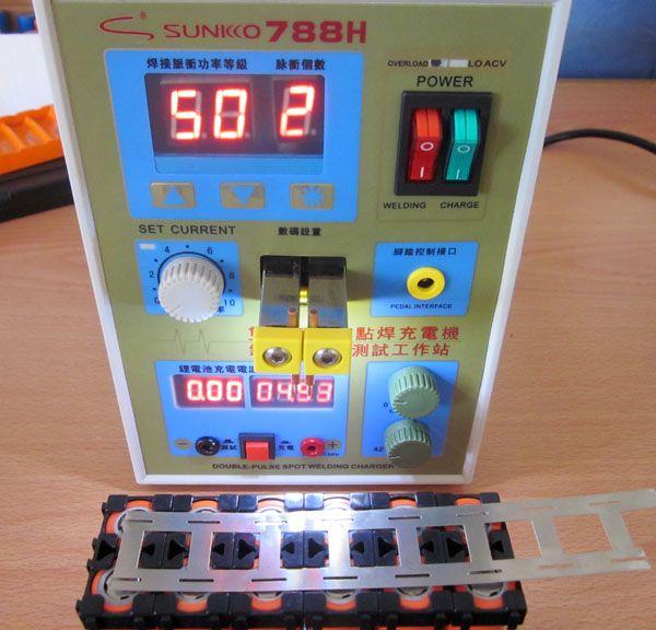 SUNKKO New upgrade LED lighting 788H double pulse precision 18650 Spot Welder Battery Welder, 788h 220v /110V