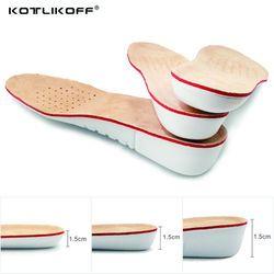 Kotlikoff Tinggi Meningkatkan Insole EVA Kulit Babi Sol Gel Sol Datar Kaki Silikon Sol Gel Ortopedi Sepatu Pad Lift Meningkatkan