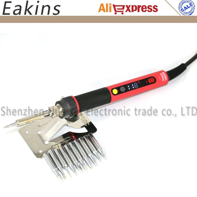 CXG E60W E90W E110W Digital LCD Adjustable NC thermostat Electric soldering iron handle Welding repair +10 pcs 900M tips