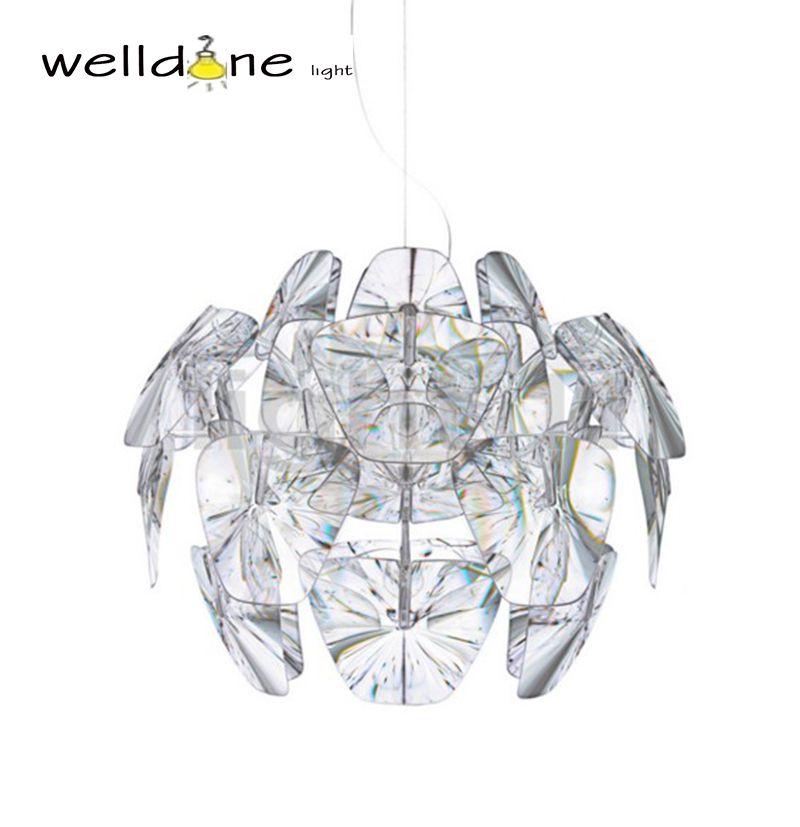Clear Led E27 Modern D61/72cm Hope Pendant Lamps Acrylic Lampshade Pendant suspension Light Lighting Bedroom Lamp Fixtures