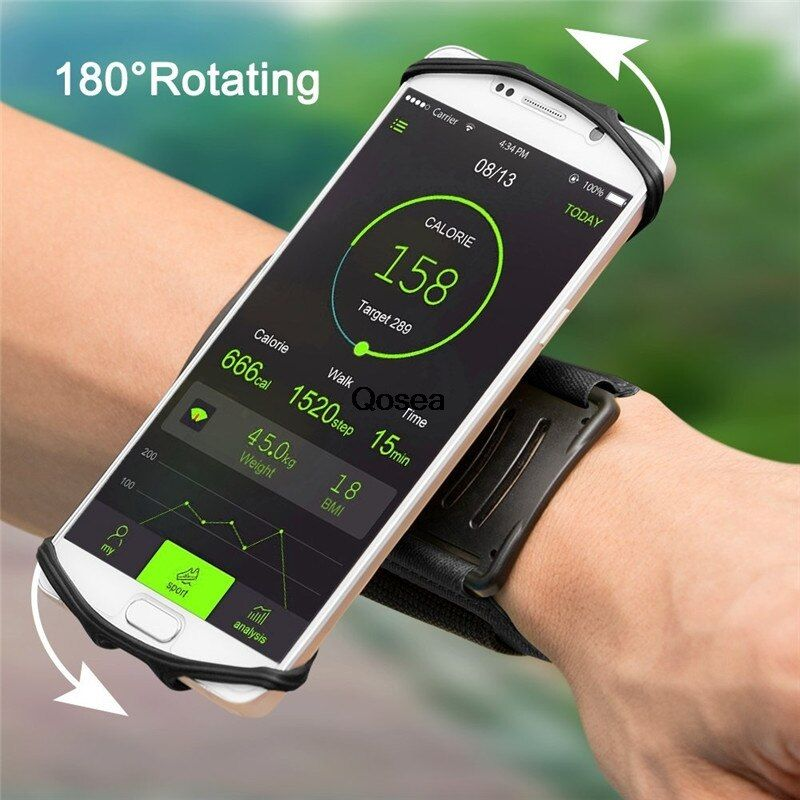 Qosea Running Sports Armbands Workout Universal Armlet Arm Band Case Direct Touch For iphone 7 Plus 6S Samsung S8 Huawei P10