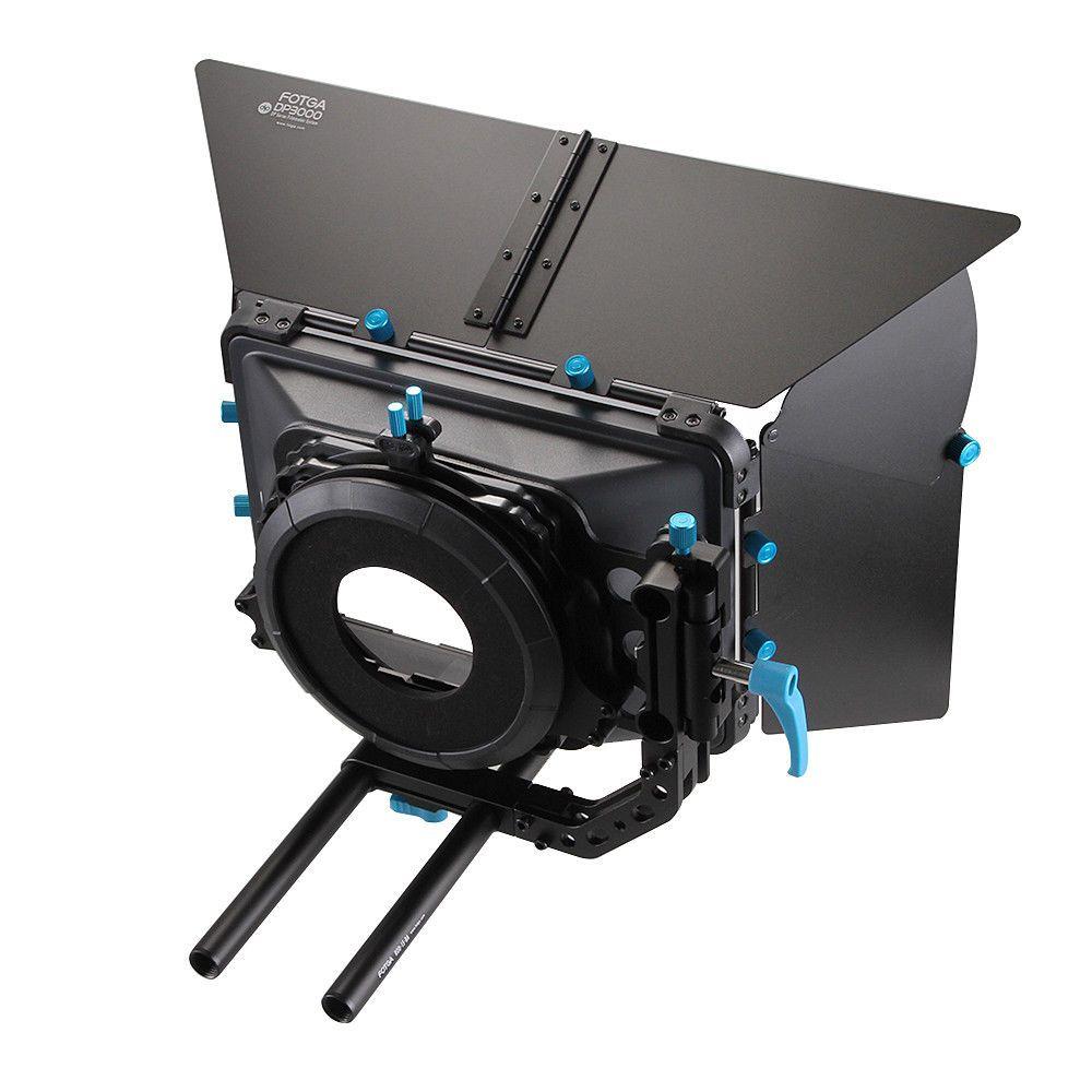 FOTGA DP3000 Professionnel Swing-loin Matte Box Parasol pour 15mm Rod DSLR Rig M3