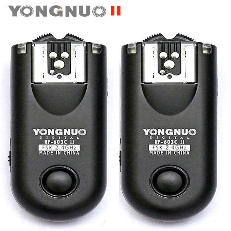 Yongnuo RF-603 II Radio Sans Fil À Distance Déclencheur Flash C1/C3 pour Canon 1100D 1000D 700D 650D 600D 550D 500D 450D 400D 350D 300D
