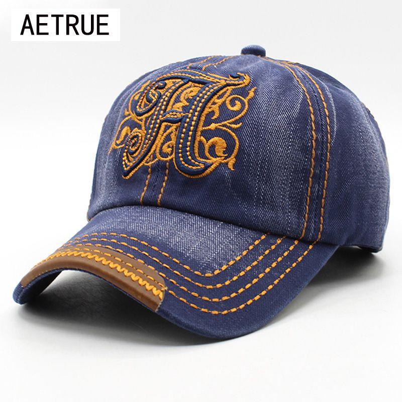 100% coton Casquette de Baseball Snapback Casquette chapeaux pour hommes femmes chapeau de soleil os Denim Gorras Baseball printemps hommes Casquette 2018