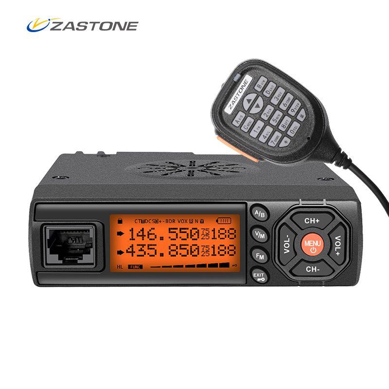 Zastone Z218 Mobile Walkie Talkie 10 km 25W Dual Band VHF/UHF 136-174mhz 400-470mhz 10KM Car Radio Communicator Transceiver