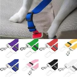 2017 New Qualified Pet Cat Dog Safety Vehicle Car cachorro Seat Belt mascotas dog Seatbelt Harness Lead Clip Levert Dropship 718