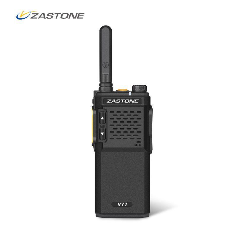 Zastone V77 Mini Portable Talkie Walkie UHF 400-470 mhz 1500 mah Batterie HF Émetteur-Récepteur Communicateur De Poche Deux- way Ham Radio