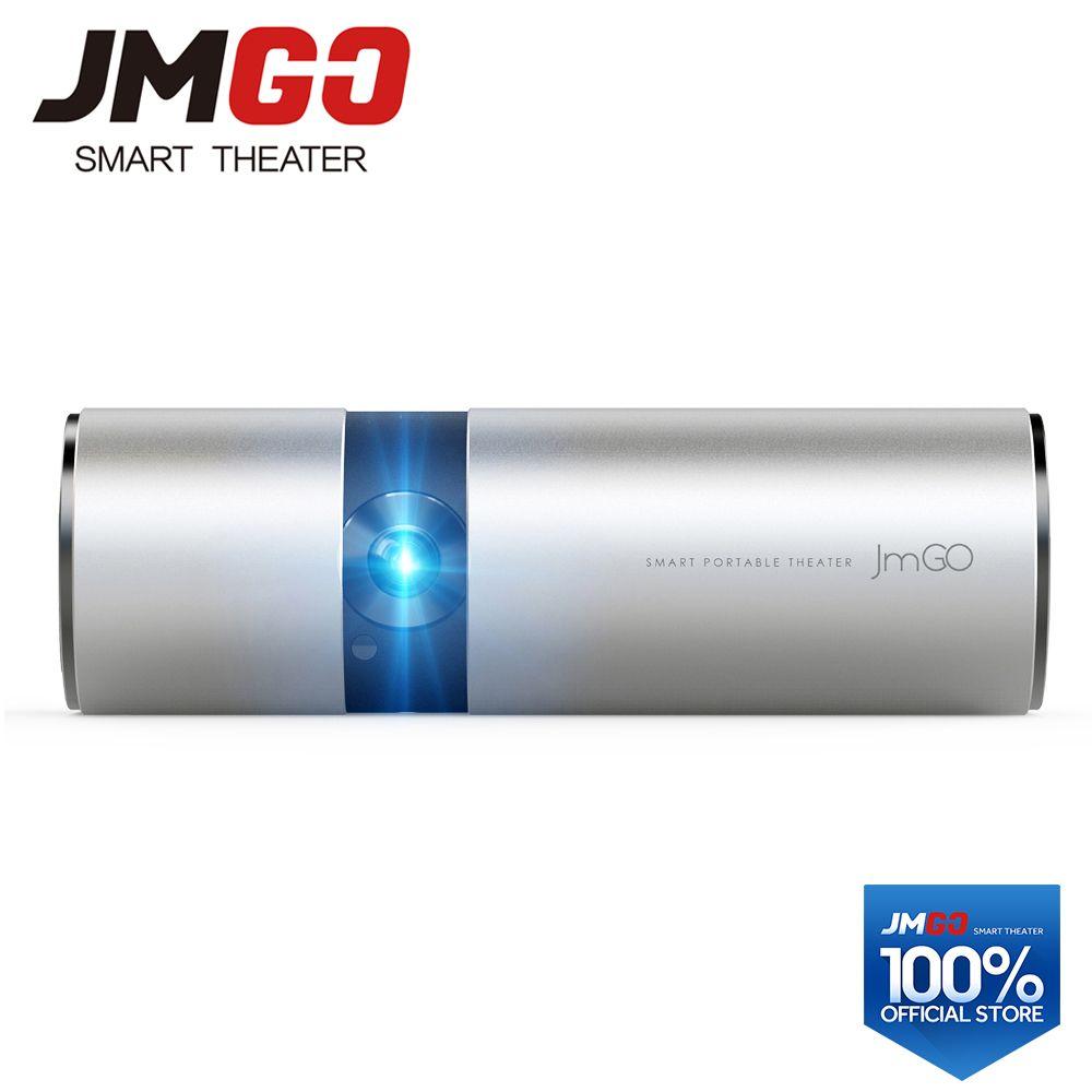 JMGO P2 Tragbare LED Projektor 250 ANSI Lumen, Eingebaute 15600 mah Lithium-Batterie Android HD Projektor, WIFI, bluetooth Lautsprecher