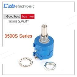 3590S 500 1K 2K 5K 10K 20K 50K 100K ohm Precision Multiturn Potentiometer 10 Ring Adjustable Resistor