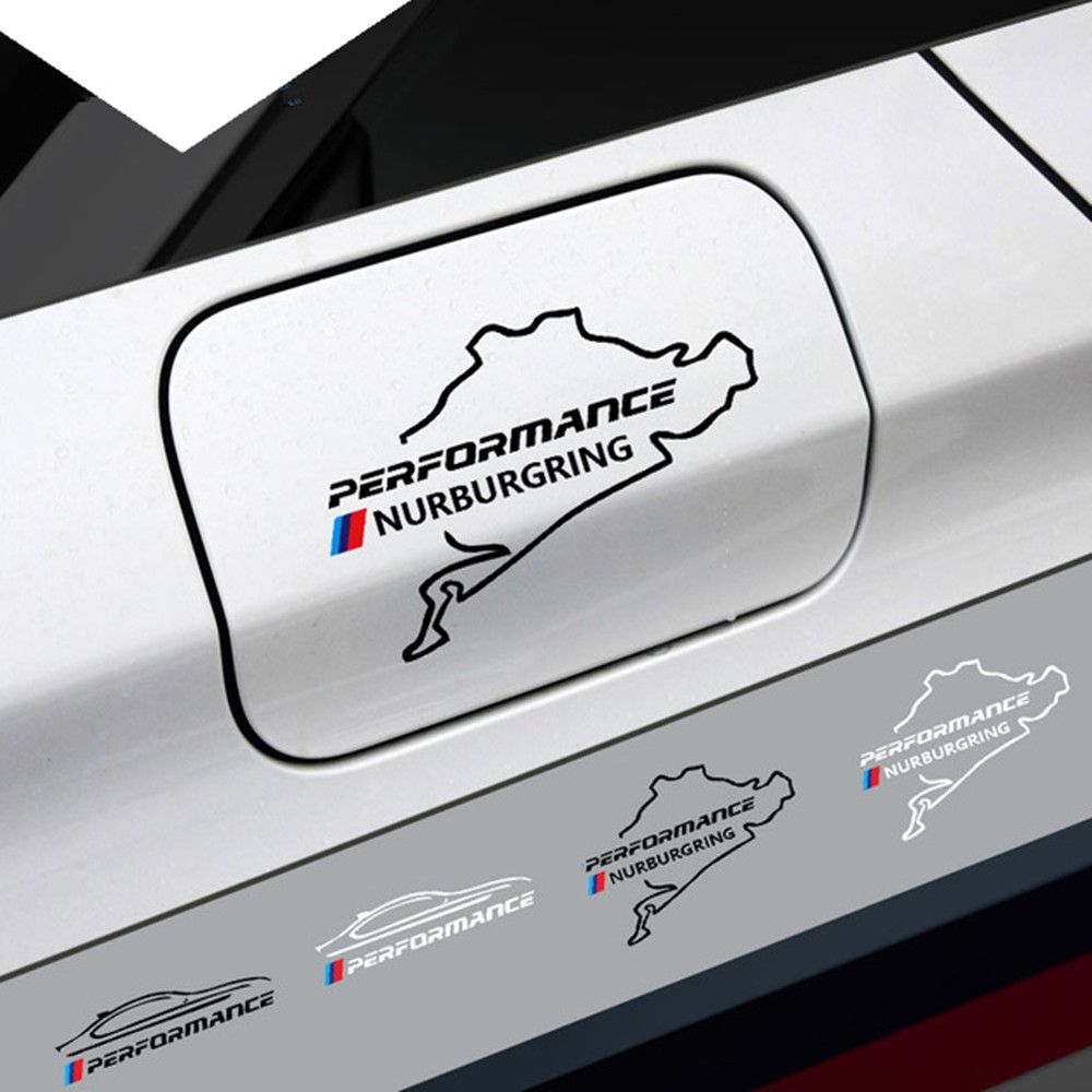 Nouveau Style voiture bouchon de réservoir de carburant autocollant Racing Route Nurburgring Pour BMW e46 e90 e60 e39 f30 f34 f10 e70 x3 x4 x5 x6 f22 f20 f32 f36