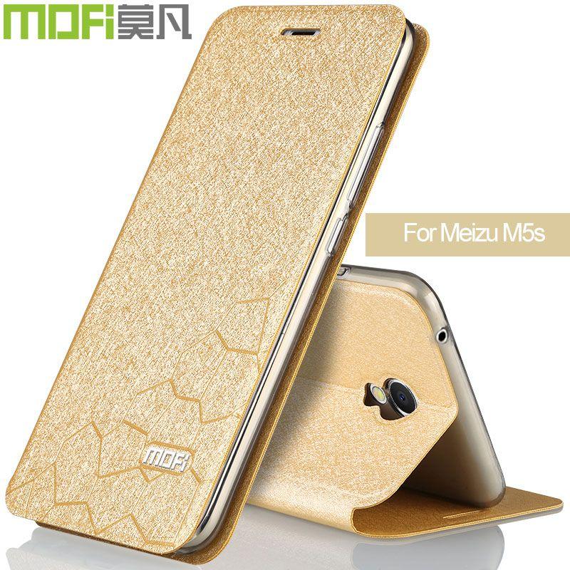 Meizu m5s cas housse en silicone retour flip cas pour téléphone meizu m5s pro téléphone cas mofi d'origine rose noir or de luxe pour fille