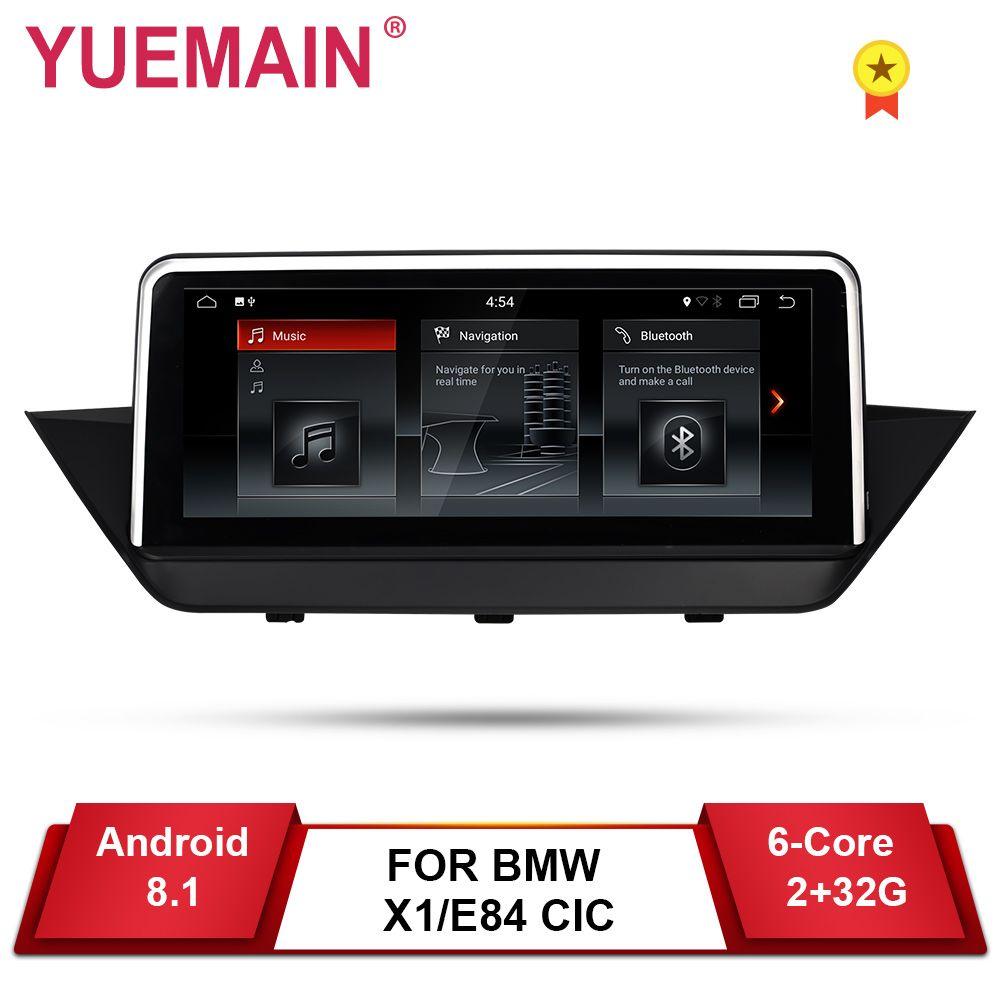 YUEMAIN Android 8.1 Auto DVD GPS-Player Für BMW X1 E84 2009-2015 CIC Navigation Auto Raido Multimedia iDrive 2 GB + 32 GB Kamera