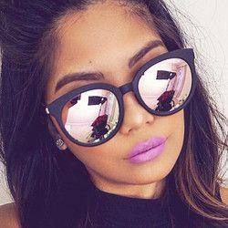 Top Qualité Carré lunettes de Soleil Femmes Marque Conception Revêtement Miroir Lady Lunettes De Soleil Femme Lunettes de Soleil Pour Femmes Lunettes oculos de sol