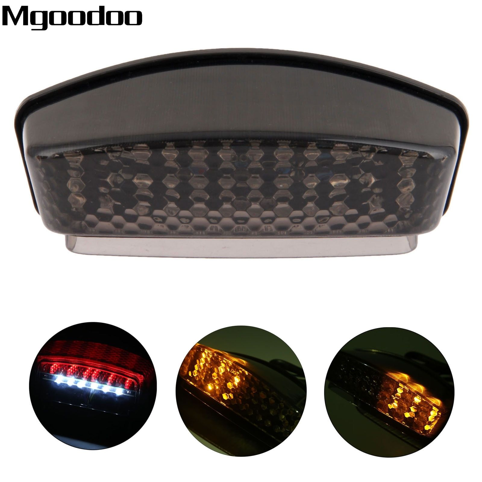 Mgoodoo Smoked Motorcycle LED Brake Tail Light Tailight Turn Signal Indicators For Ducati Monster 900 94-08 1000 S2R S4R S4 S4RS