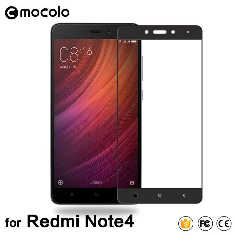 Mocolo Xiaomi redmi note 4 écran protecteur en verre ultra mince 2.5D 9 H couverture complète dans les deux versions Xiomi redmi note 4 en verre trempé