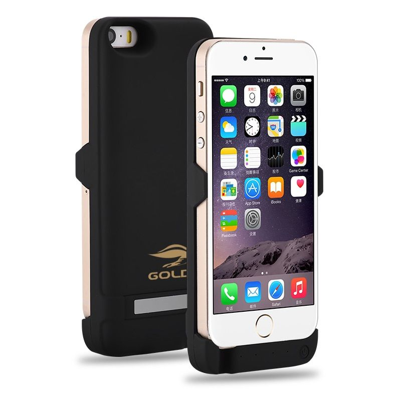 GOLDFOX External Rechargeable <font><b>Battery</b></font> Charger Case for iphone 5 5S 4200mAh Power Bank <font><b>Battery</b></font> Case Charging for iphone 5 5s SE