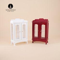 1/12 Dollhouse Furniture Display Miniature Modern Burlywood/white Wooden Cabinet 1:12 Miniatura