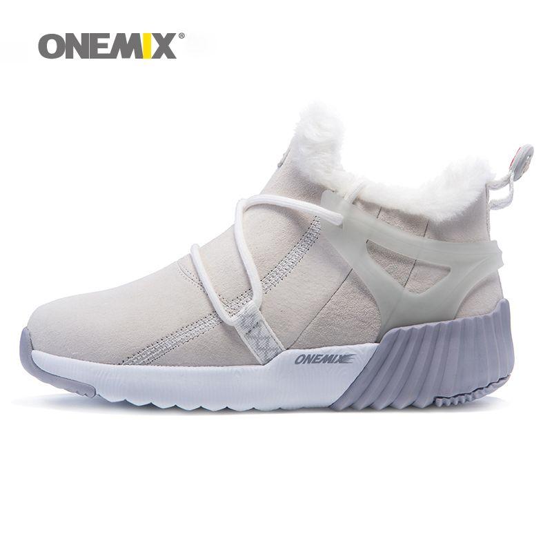 Onemix women's trekking shoes anti slip walking shoes male mountain shoes comfortable warm outdoor sneakers for women walking