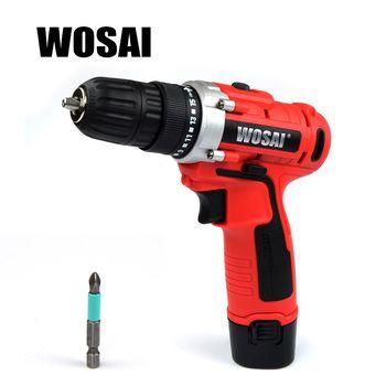 WOSAI 12 V DC Ménage Au Lithium-Ion Batterie Perceuse sans fil Pilote Outils Électriques Perceuse Électrique