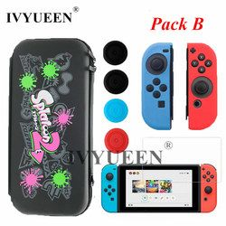 Ivyueen para Nintendo switch consola accesorios transporte protectora bolsa de almacenamiento con 10 juego para joycon controlador