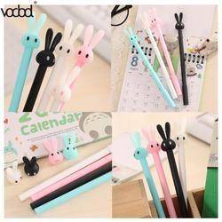 Шариковая ручка VODOOL с милым мультяшным кроликом Kawaii гелевые шариковые ручки школьные принадлежности канцелярские принадлежности креативн...