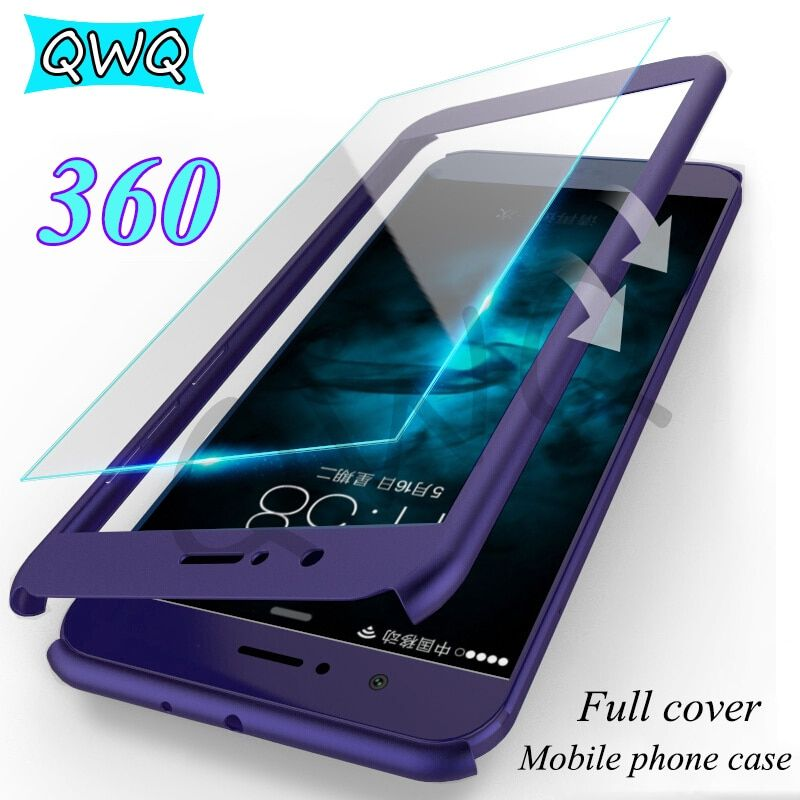 Luxus Volle Abdeckung Für Huawei Mate 10 Lite PC Fall Harte Matte 360 Portector Fall Für Huawei Mate 10 Pro fall Mit Gehärtetem Glas