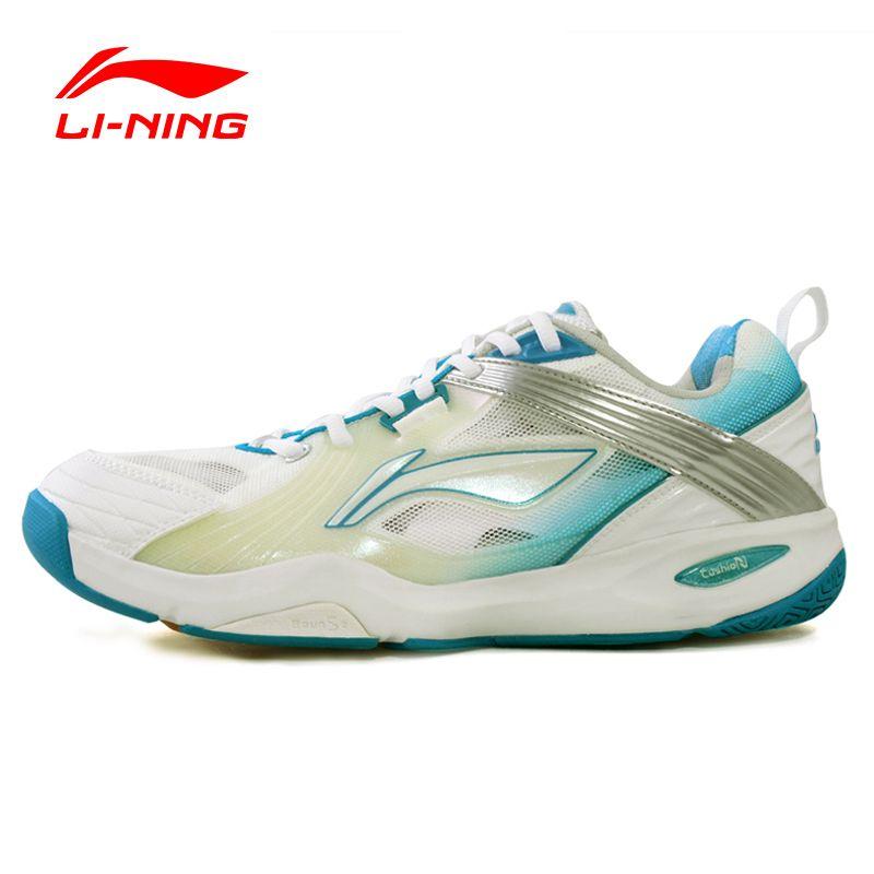 2016 Li-ning Bádminton Zapatos de Tela de Cuero de Encaje Hasta Zapatillas de Deporte Zapatos de Los Hombres Resistentes de Secado Rápido AYAF007 XYY012