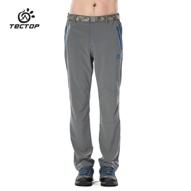 TECTOP PS6179 Spring and Summer Outdoor Quick Dry Shorts Sport Pants, Solid Elastic Polyester Men Pants