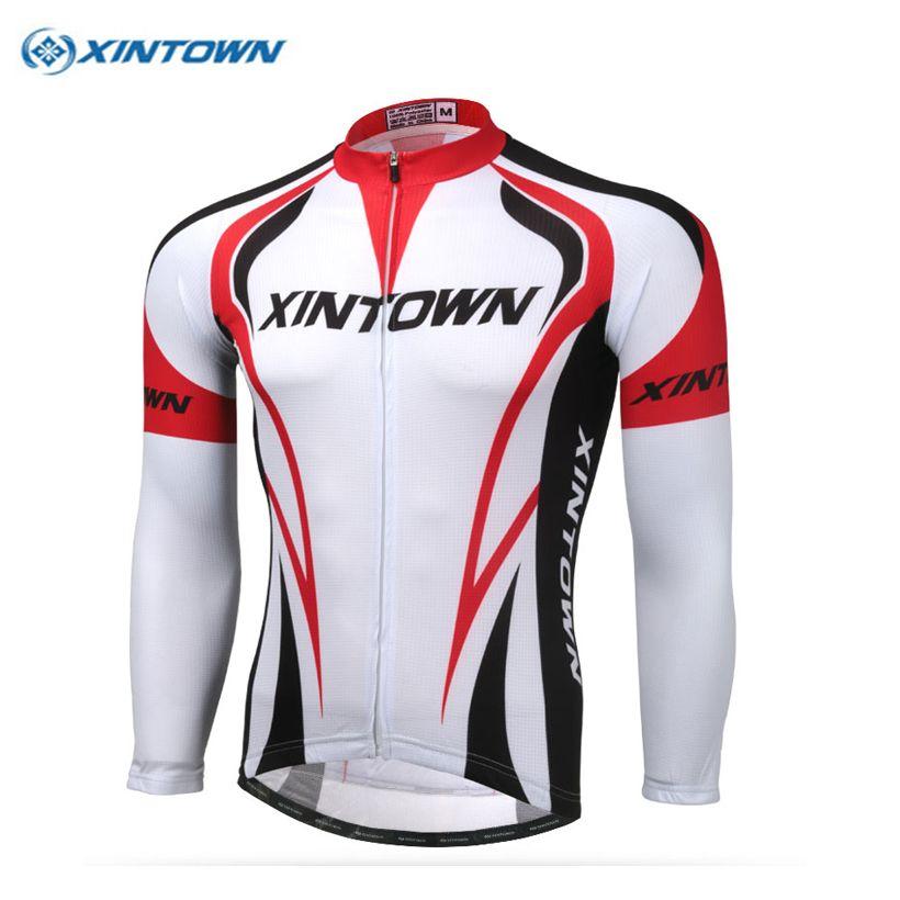 XINTOWN cycling clothing Top Red Long Sleeve ciclismo Cycling jersey Men Bike Clothing Sportswear Bicycle Wear autumn S-XXXL