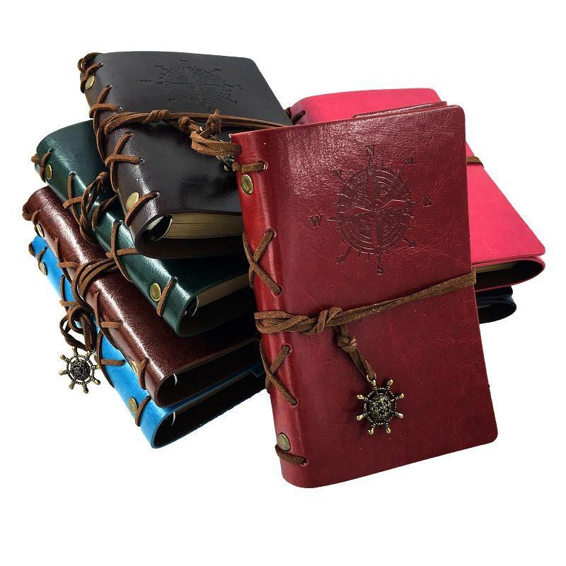 RuiZe offre spéciale journal de voyage en cuir carnet de voyage nautique A5 A6 A7 pages vierges papier kraft carnet de notes avec étui